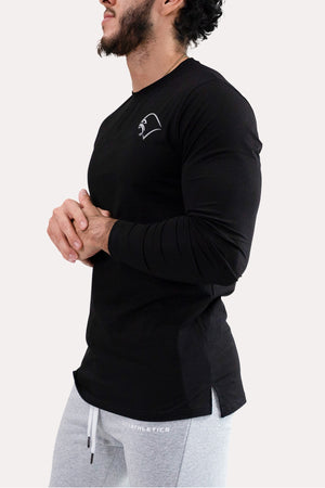 Panel Long-Sleeve - Minimal Black