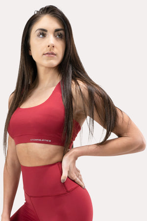 Ease Sports Bra - Crimson