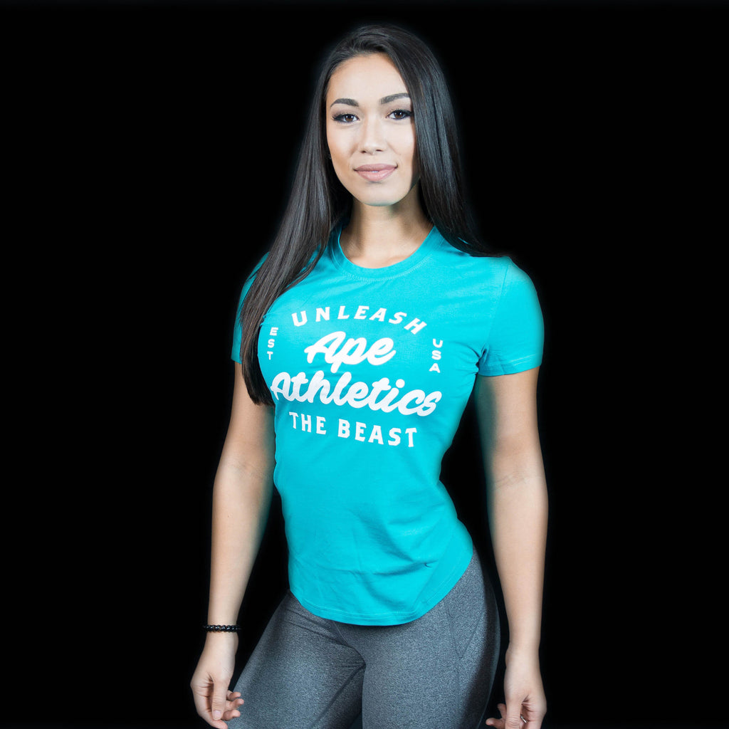 Women's HyperFit Tee - Unleash the Beast