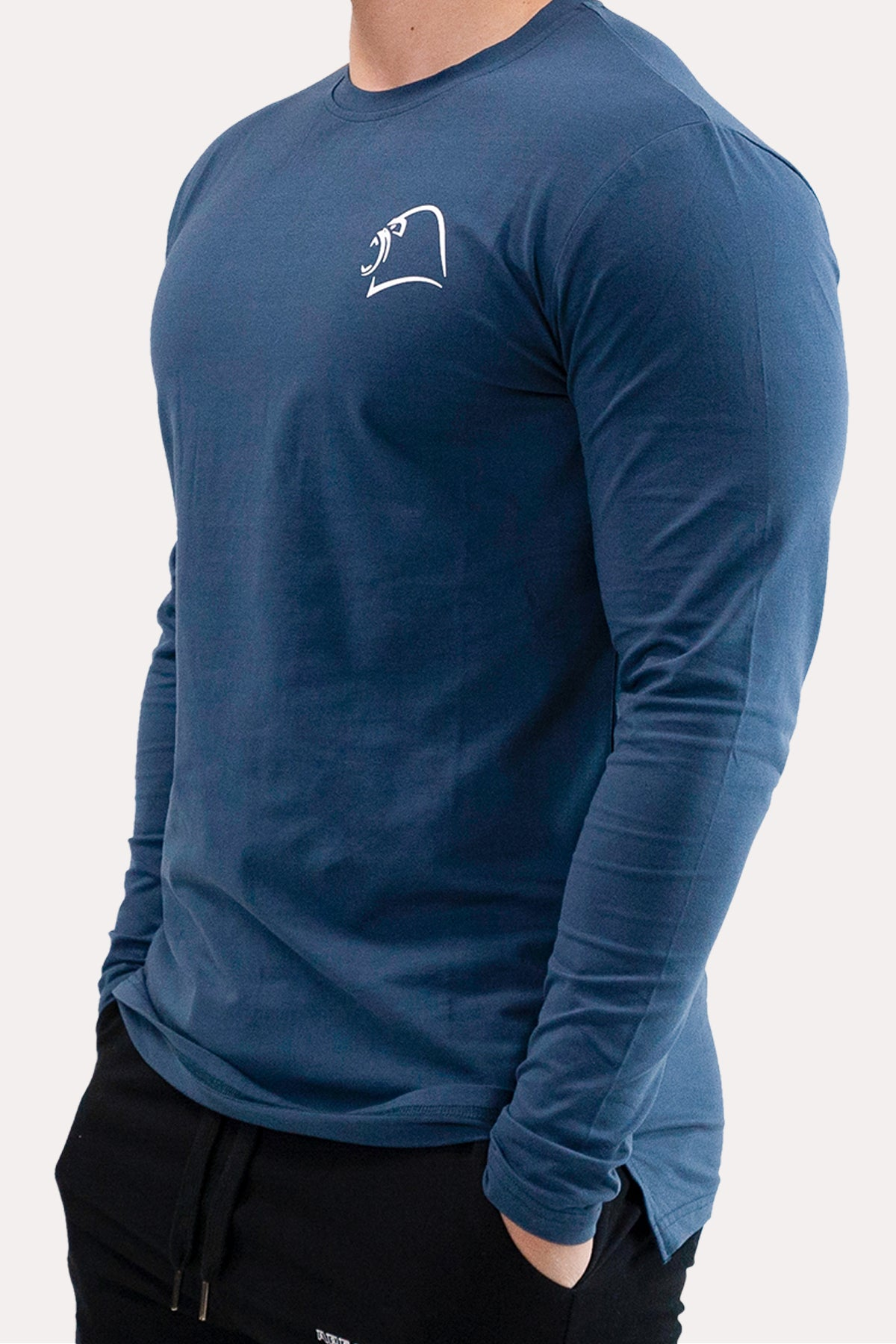Panel Long-Sleeve - Minimal Royal Blue
