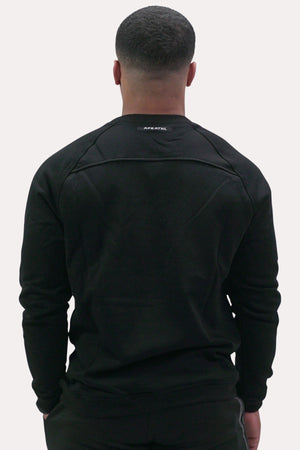 Crew Neck Sweatshirt - X Black