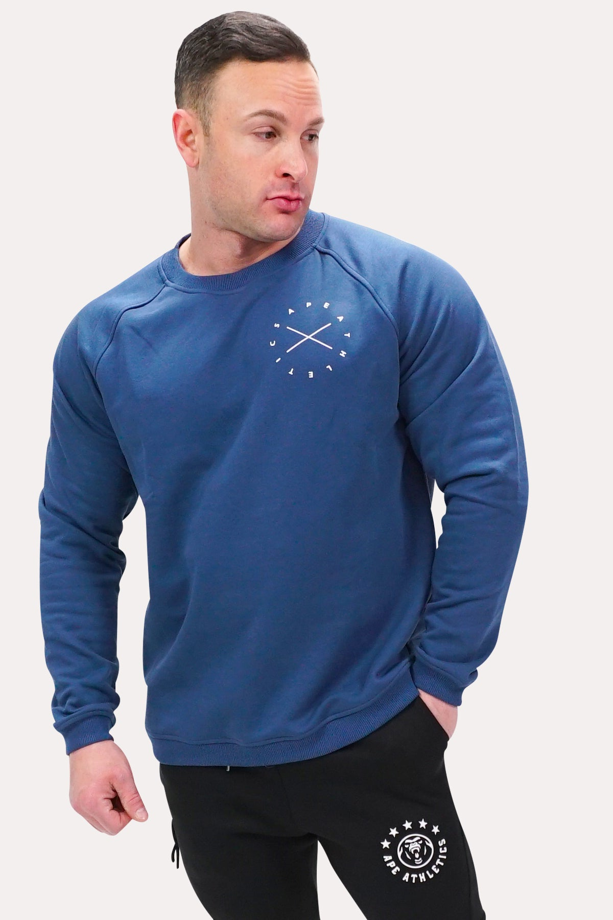 Crew Neck Sweatshirt - X Navy