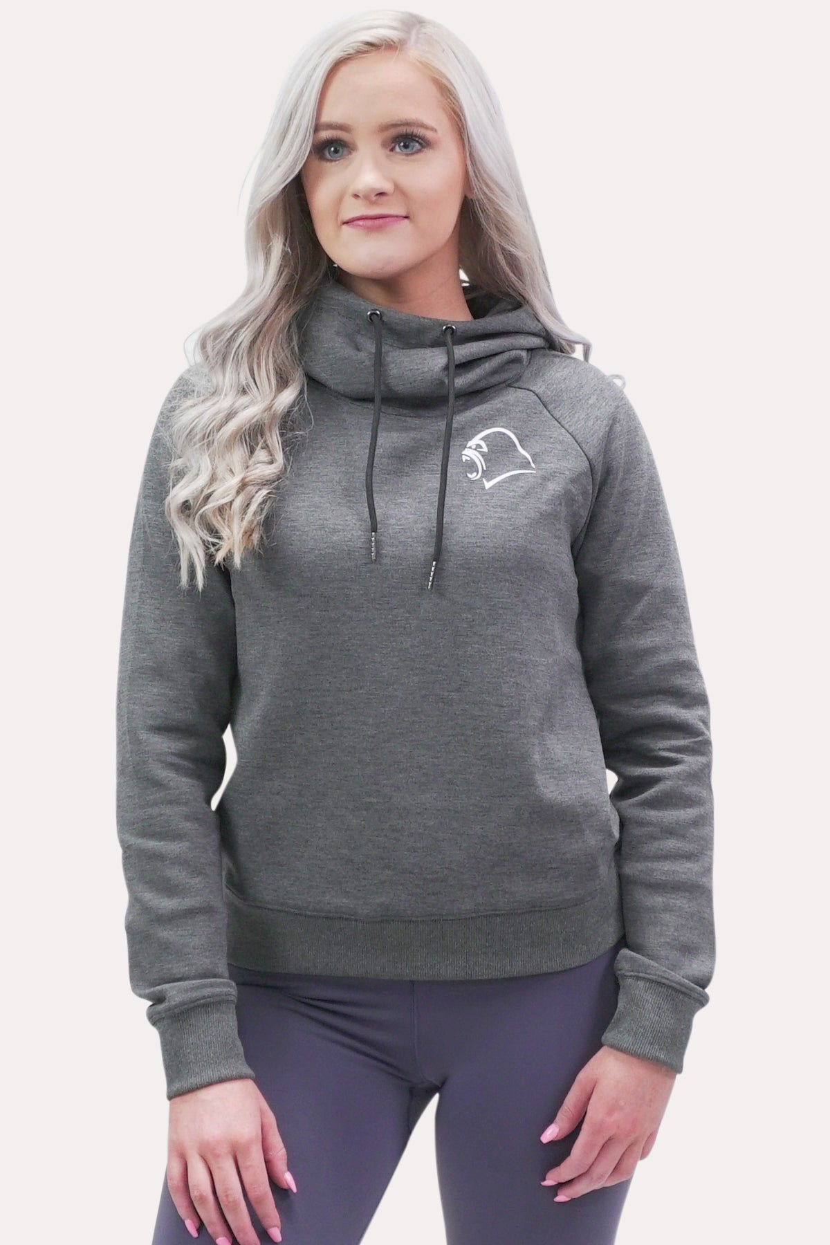 Bunch Neck Hoodie - Minimal Charcoal