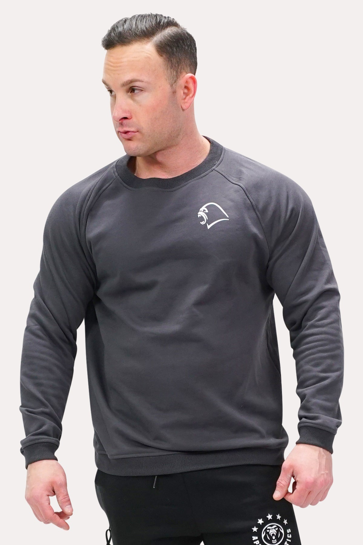 Crew Neck Sweatshirt - Minimal Charcoal