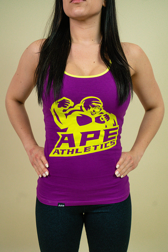 Women's Tanks - Purple/Lime