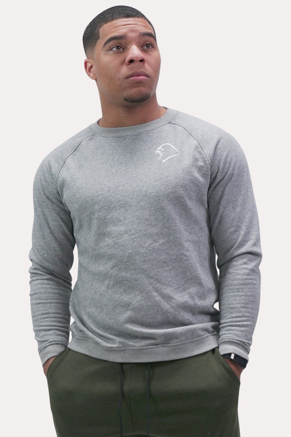 Crew Neck Sweatshirt - Minimal Grey