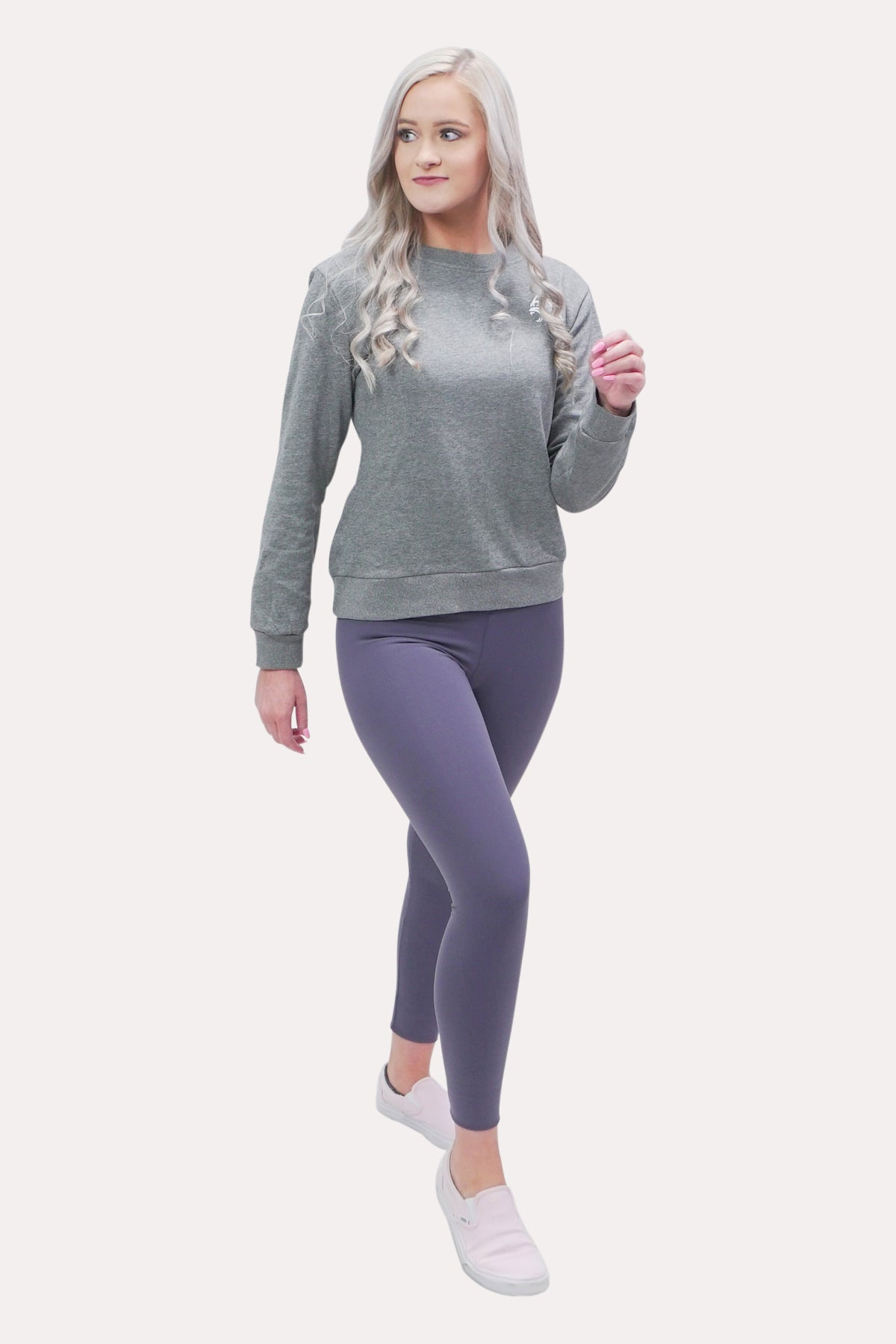 Women's Crew Neck Sweatshirt - Minimal Grey