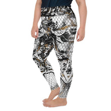 Load image into Gallery viewer, Curvy Extended Size Leggings Marbles Massive Print