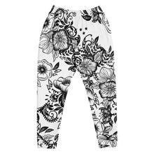 "Load image into Gallery viewer, Relax Fit Massive Print ""Kitty Flowers"" Unisex Jogger"