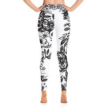 "Load image into Gallery viewer, Massive Print ""Kitty Flower"" High Waist Leggings"