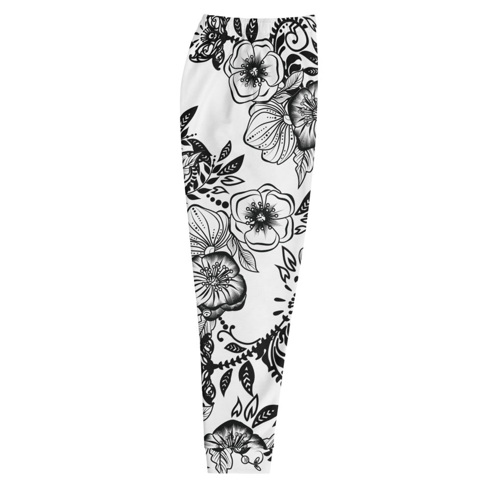 "Relax Fit Massive Print ""Kitty Flowers"" Unisex Jogger"