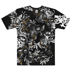 """Marble Crown"" Black Massive Print Unisex T-shirt"