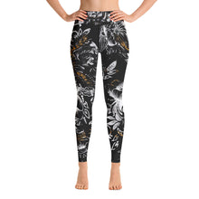 "Load image into Gallery viewer, High Waist Leggings Black ""Marbles"" Massive Print"