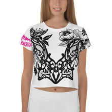 "Load image into Gallery viewer, ""Kitty Crown"" Massive Print Crop Tee"