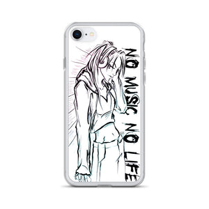 'NO music NO life' iPhone Case