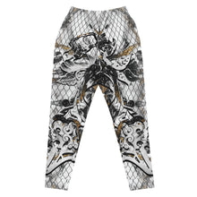 Load image into Gallery viewer, Slim Fit Unixex Joggers Marble Fishnet Massive Print