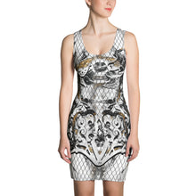 "Load image into Gallery viewer, ""Marbles"" Fishnet Massive Print Sublimation Tank Dress"