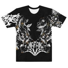 "Load image into Gallery viewer, ""Marble Crown"" Black Massive Print Unisex T-shirt"