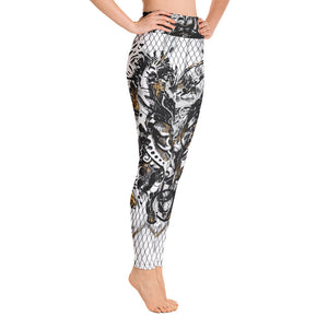 High Waist Leggings Marbles Massive Print