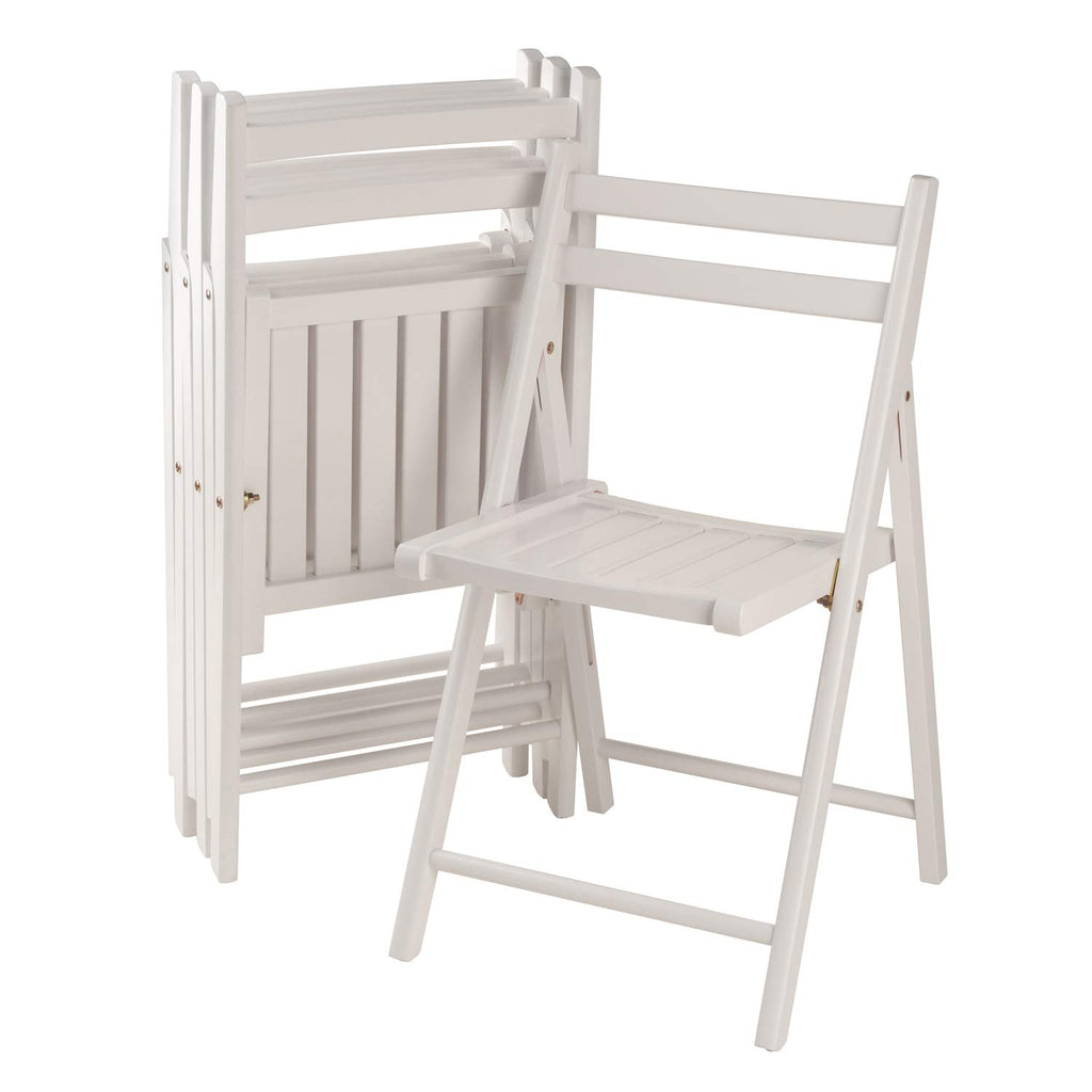 Robin Folding Chairs, Set of 4 in White Finish - Pot Racks Plus