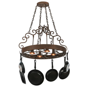 "34""W Dior 4 Light Pot Rack - Pot Racks Plus"
