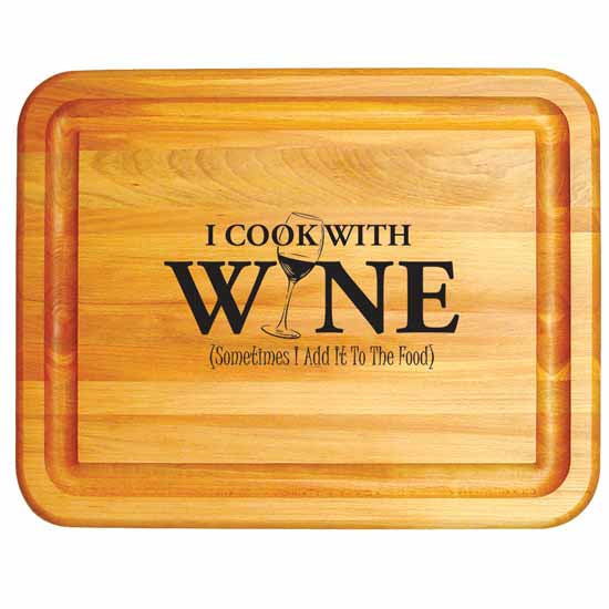 I Cook With Wine Board - Pot Racks Plus