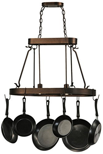 "32""L Harmony 2 Light Pot Rack - Pot Racks Plus"
