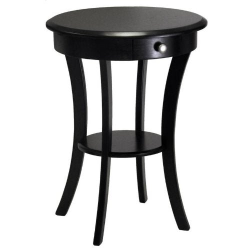 Sasha Round Accent Table, Black - Pot Racks Plus