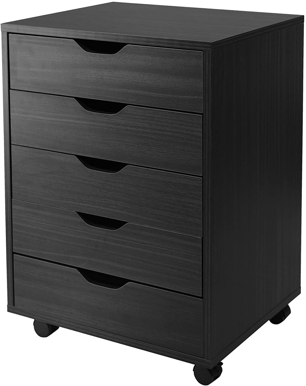 HalifaxCabinet, Black, 5-Drawer - Pot Racks Plus