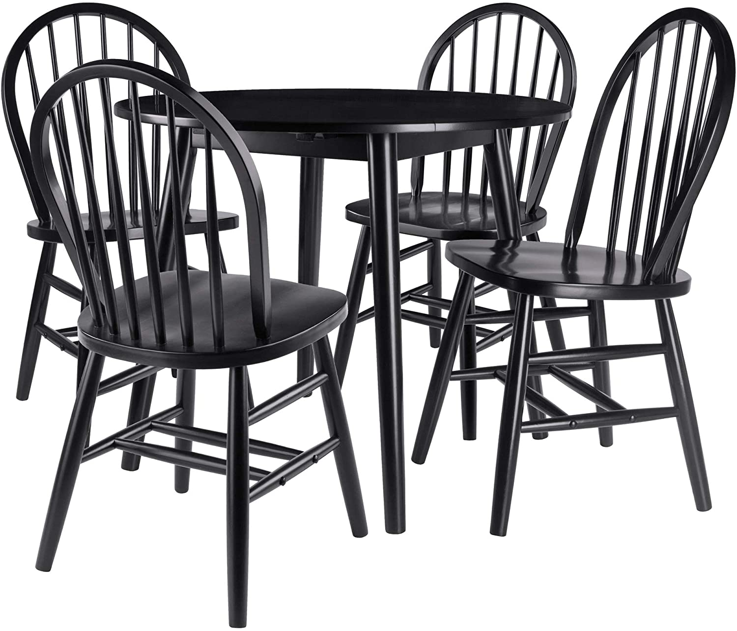 Moreno 5-Piece Set Drop Leaf Table With Chairs - Pot Racks Plus