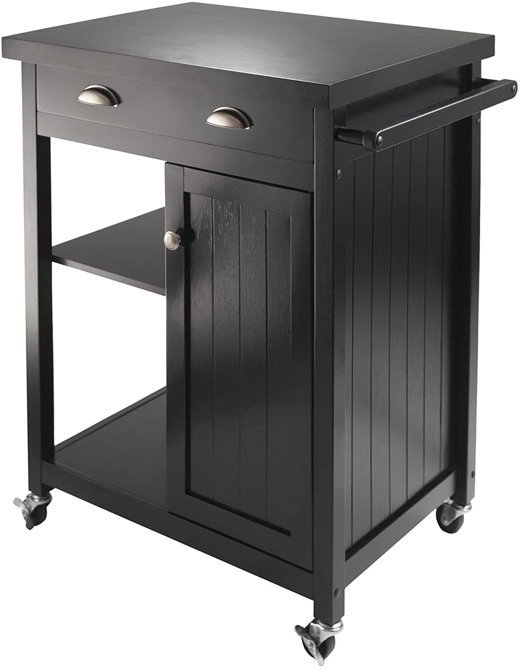 Timber Kitchen Cart With Wainscot panel - Pot Racks Plus