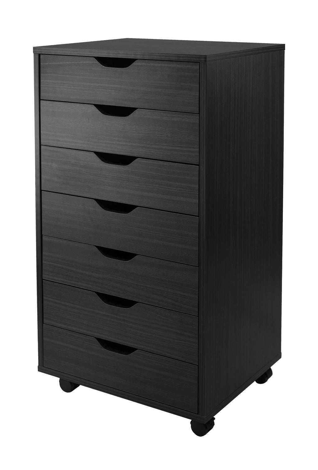 HalifaxCabinet, Black, 7-Drawer - Pot Racks Plus