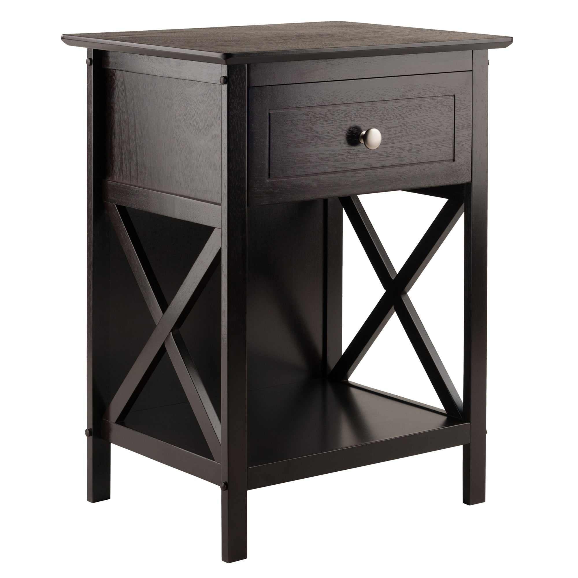 Xylia Accent Table in Coffee Finish - Pot Racks Plus