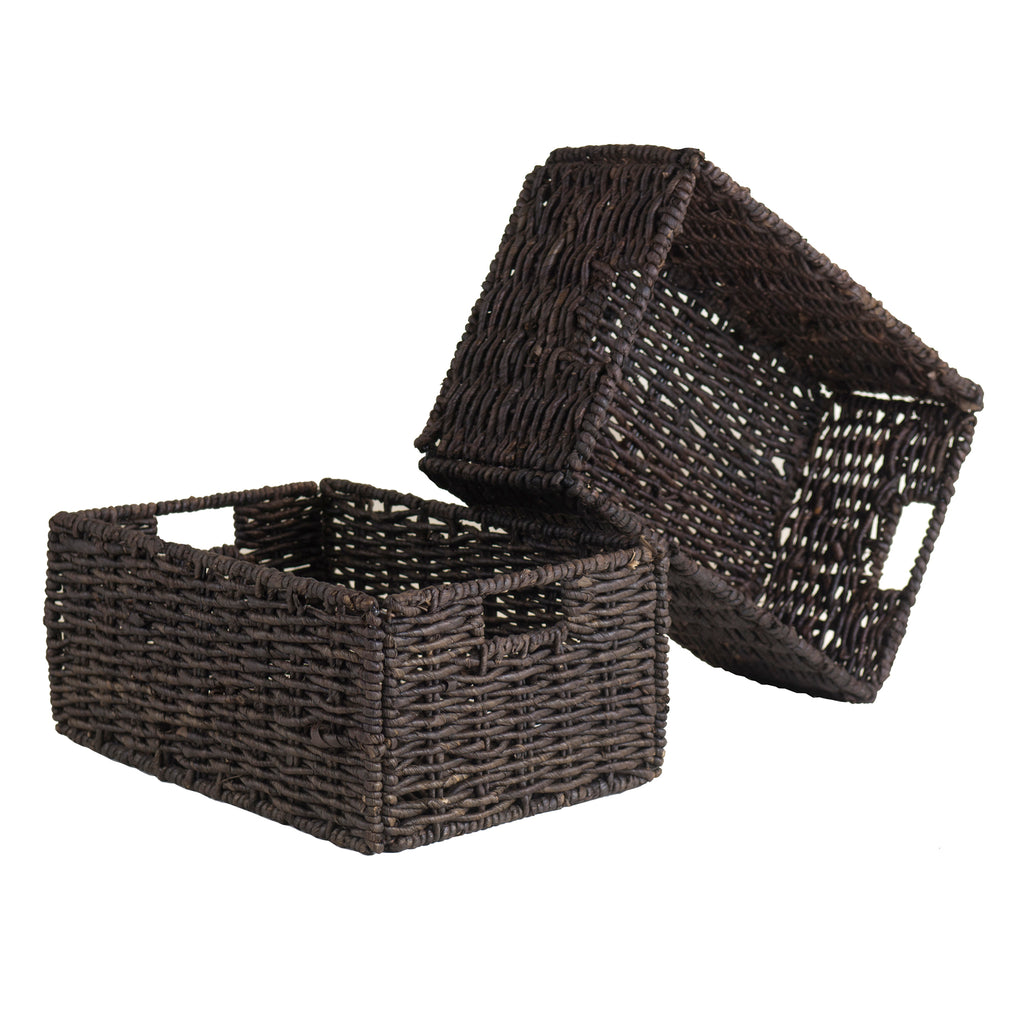 Granville Set Of 2 Medium Foldable Baskets - Pot Racks Plus