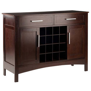 Gordon Buffet Cabinet/Sideboard Cappuccino Finish - Pot Racks Plus