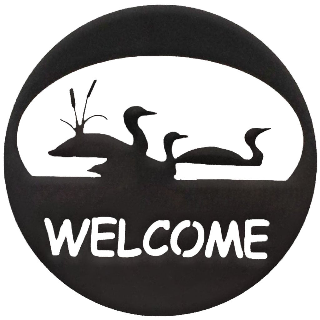 Loon Welcome Circle-Hammered Black - Pot Racks Plus