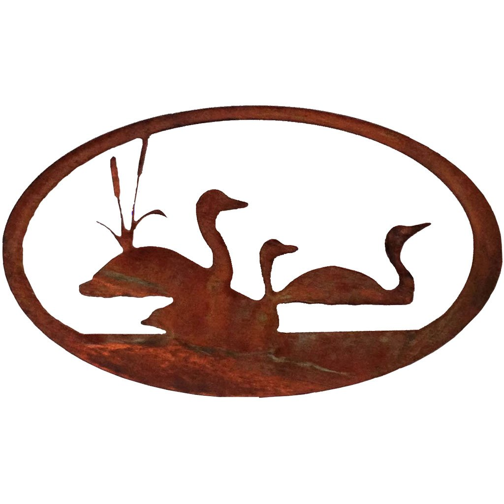 Loon Oval-Rust Patina - Pot Racks Plus