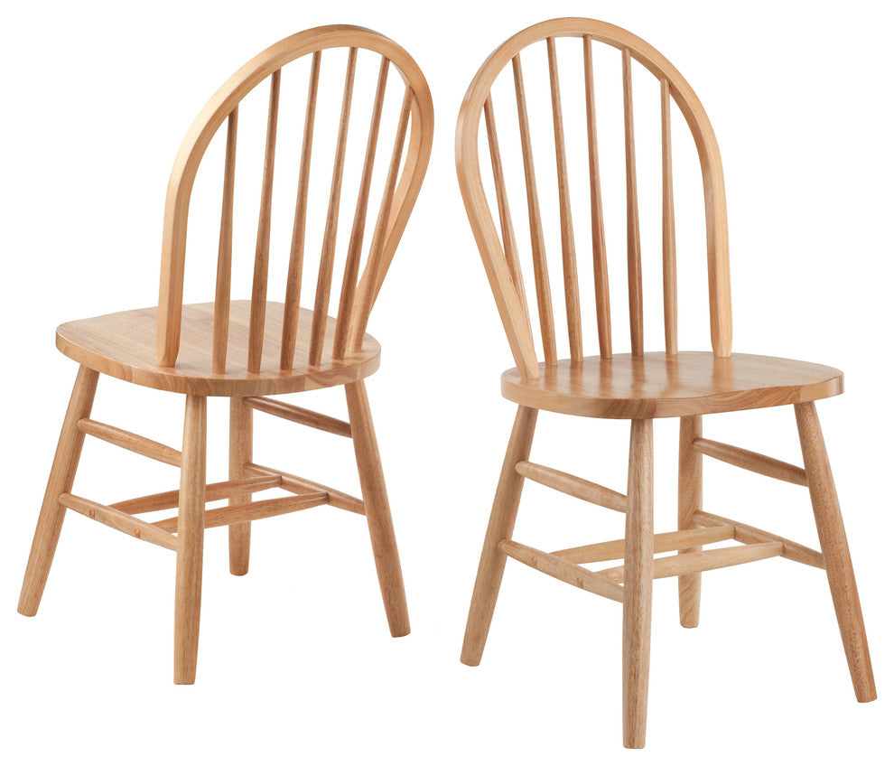 2-Piece Windsor Chair Set RTA Natural - Pot Racks Plus