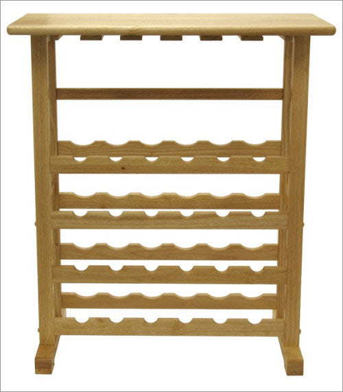 24-Bottle Wine Rack With Glass Rack - Pot Racks Plus