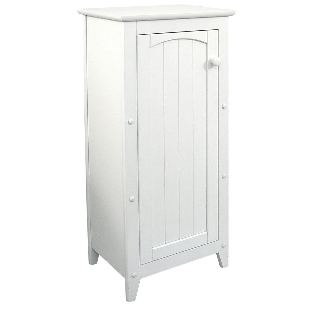 White Single Door Storage Cabinet - Pot Racks Plus