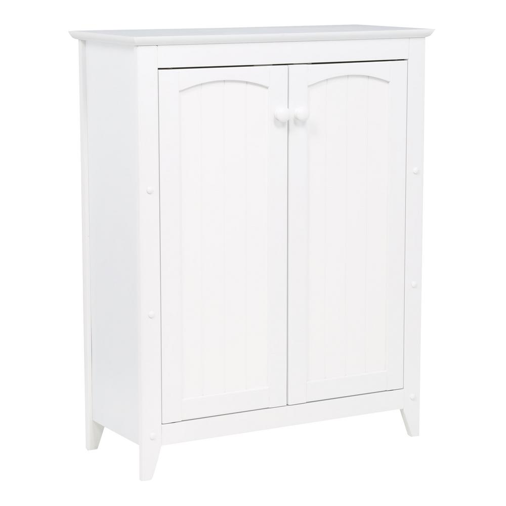 White Double Door Cabinet - Pot Racks Plus