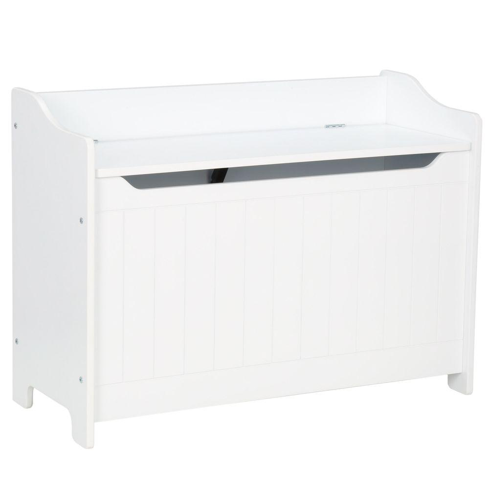 White Storage Chest/Bench - Pot Racks Plus