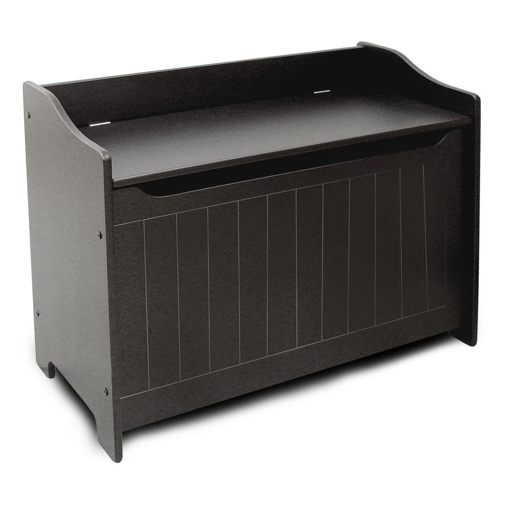 Black Storage Chest/Bench - Pot Racks Plus