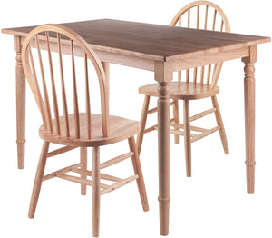 Ravenna 3-Piece Set, Dining Table With Windsor Chairs - Pot Racks Plus