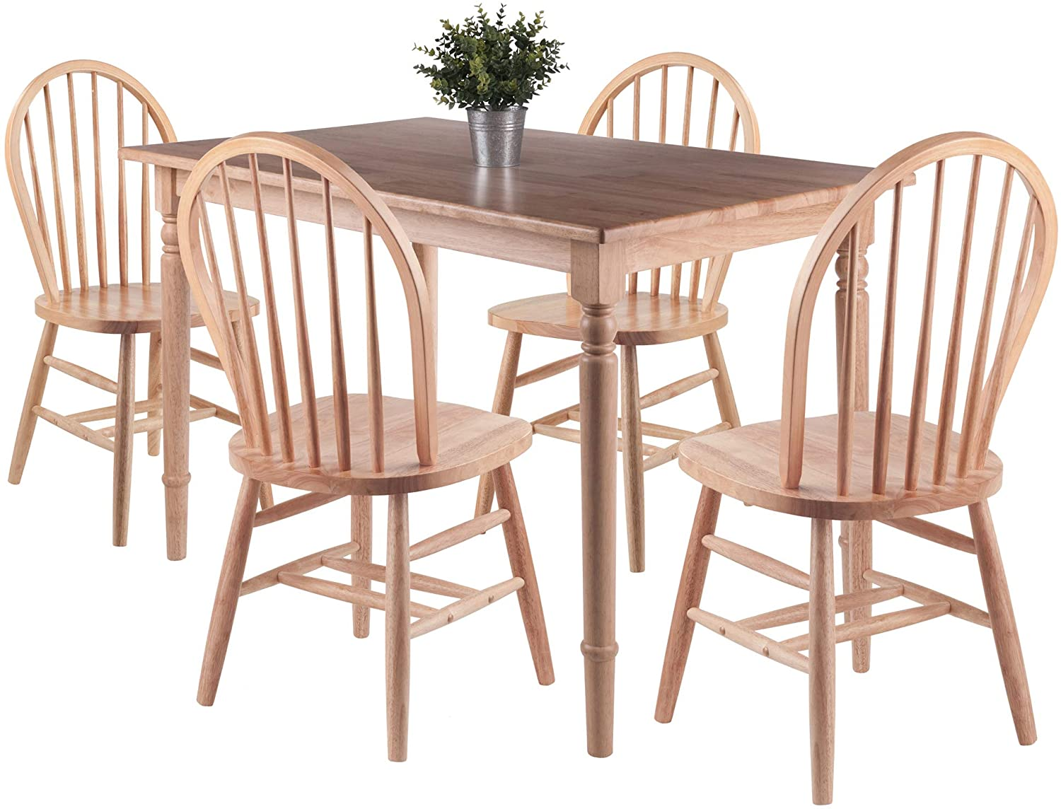 Ravenna 5pc Dining Table with Windsor Chairs - Pot Racks Plus