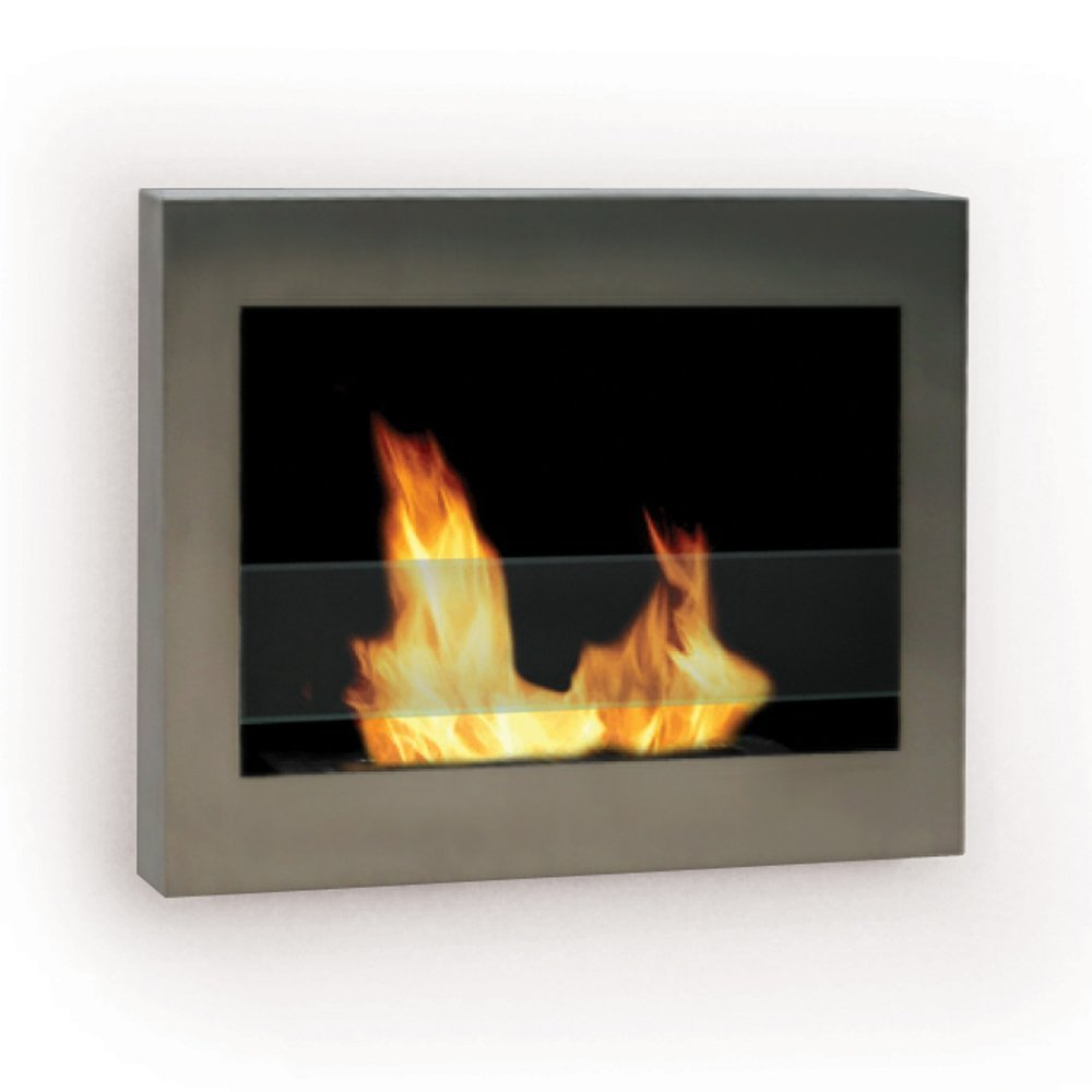 SoHo Wall Mount Ethanol Fireplace, Stainless Steel - Pot Racks Plus