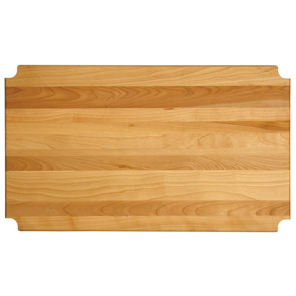 "Hardwood Cutting Board/shelf Insert, 23.125""x13.3125""x1"" - Pot Racks Plus"