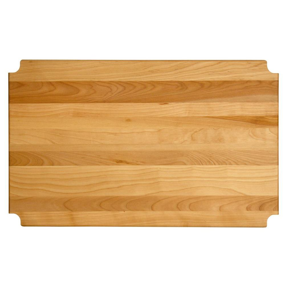 "Hardwood Cutting Board/shelf Insert, 29.125""x13.875""x1"" - Pot Racks Plus"