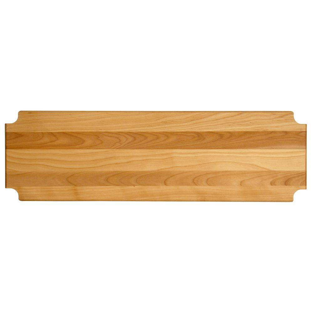"Hardwood Cutting Board/shelf Insert, 47.125""x13.3125""x1"" - Pot Racks Plus"