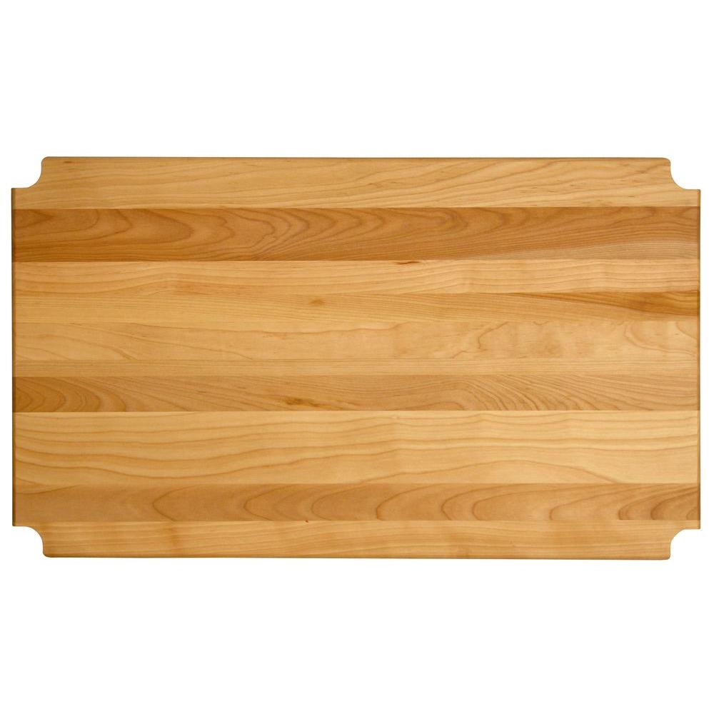 "Hardwood Cutting Board/shelf Insert, 23.125""x17.3125""x1"" - Pot Racks Plus"